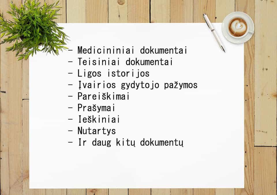 Dokumentų vertimai